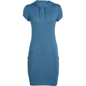 Icebreaker Yanni Hooded Dress Women thunder